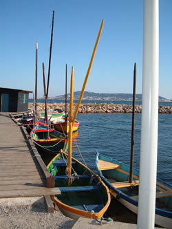 Catalan Barques - with Sete in the distance